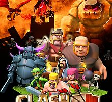 Clash of Clans Art by SXArtist