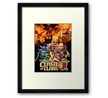 Clash of Clans Art Framed Print