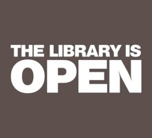 The Library is OPEN Baby Tee