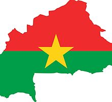 Flag Map of Burkina Faso  by abbeyz71
