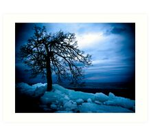 Retreating Ice Art Print