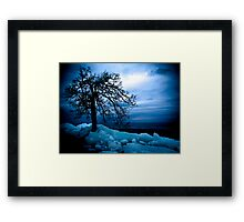 Retreating Ice Framed Print