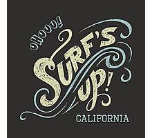 Surf's Up hand-lettering Photographic Print