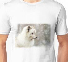 Arctic Fox in the snow Unisex T-Shirt