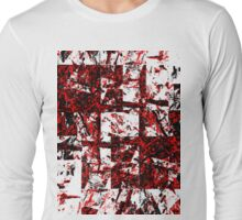 Red and Black Blocks Long Sleeve T-Shirt