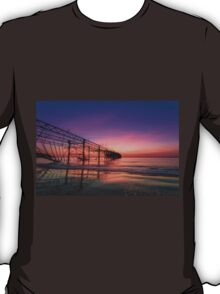 Totland Pier Caught In The Afterglow T-Shirt