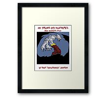 of dreams and nightmares: when monsters attack... Framed Print