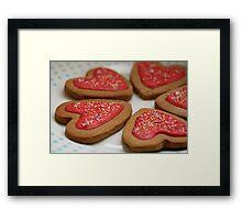 Gingerbread Hearts Framed Print