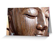 Wooden Buddha Greeting Card