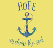 Hope Anchors the Soul Kids Clothes