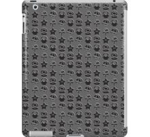 Black mario items (white shadow) iPad Case/Skin