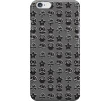 Black mario items (white shadow) iPhone Case/Skin