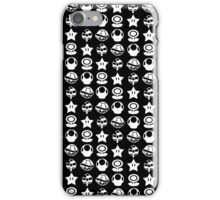 White mario items iPhone Case/Skin