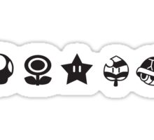 Black mario items Sticker