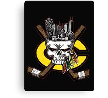 Chicago Blackhawks Skyline Canvas Print