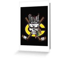 Chicago Blackhawks Skyline Greeting Card