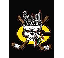 Chicago Blackhawks Skyline Photographic Print
