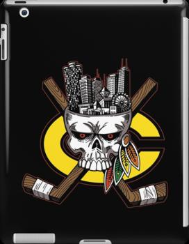 Chicago Blackhawks Skyline by GrimaceGraphics