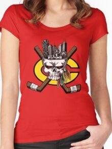 Chicago Blackhawks Skyline Women's Fitted Scoop T-Shirt