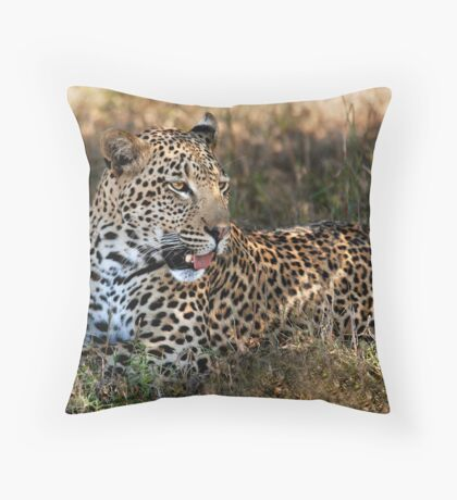 Phinda Leopard portrait Throw Pillow