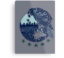 Seattle Seahawks Skyline Metal Print