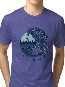 Seattle Seahawks Skyline Tri-blend T-Shirt