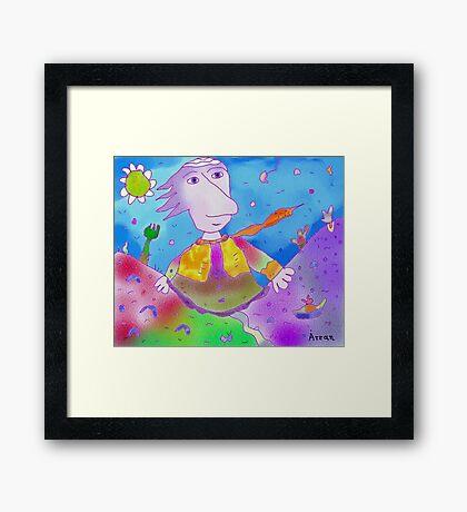 """Glory""-Children Colorful Fantasy Stories Framed Print"