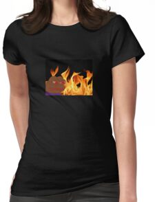 Fiery Pepe Womens Fitted T-Shirt