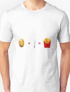 Potato+Knife=Fries Unisex T-Shirt