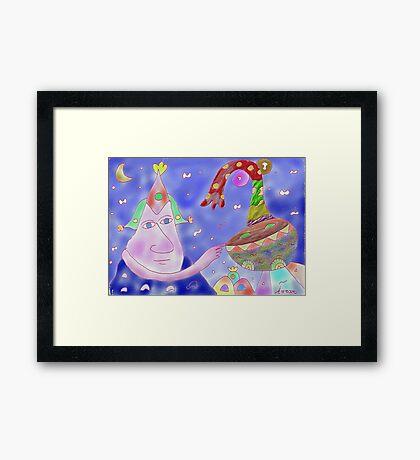 """Good Heavens""-Children Colorful Fantasy Stories Framed Print"