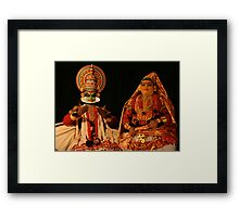 Indian Costume Actors, Kathakali Dance Performers, Cochin Framed Print