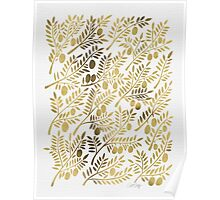 Gold Olive Branches Poster