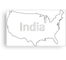 Obviously India Canvas Print