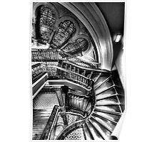 The Grand Staircase (Monochrome) - QVB - The HDR Experience Poster