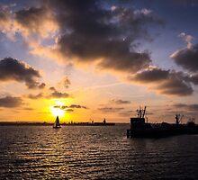 San Diego Bay Sunset by Erin-Lloyd