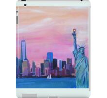 Manhattan Skyline with Statue of Liberty iPad Case/Skin
