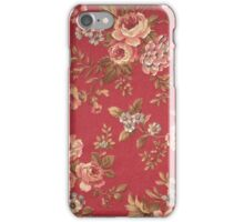 Vintage Elegant Girly Pink Red Blue Brown Roses iPhone Case/Skin