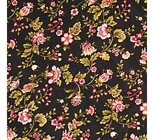 Vintage Pink And Yellow Floral Pattern  Photographic Print