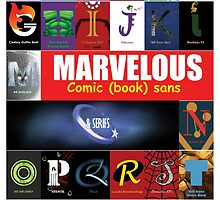 A - Z Iconic Marvelous comic book sans & serifs Charactography  by Custranz