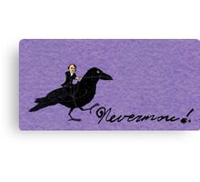 Edgar Allan Poe and Raven Canvas Print