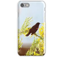 Red wings, yellow flowers iPhone Case/Skin
