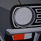 ORIGINAL MINI, CLUBMAN/1275GT, FRONT HEADLIGHT, CLOSE-UP by mphcarpaintings