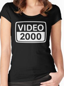 video 2000 Women's Fitted Scoop T-Shirt