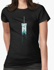 Cloud Strife - Buster Sword Womens Fitted T-Shirt
