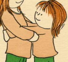 Girl Hug Sticker