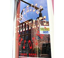 Reflection in window of Patrick Sullivans saloon Photographic Print