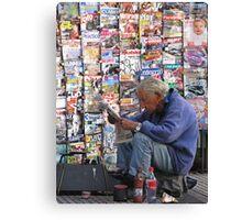 Newspaper Stand Canvas Print