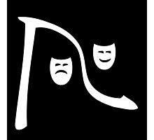 Riverfront Logo - White-Black (Small) Photographic Print