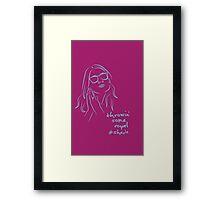 Royal Shade (purple) Framed Print