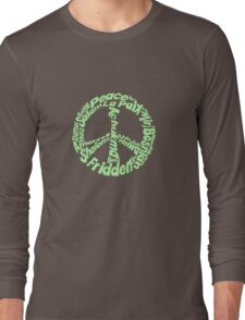 Peace in different languages Long Sleeve T-Shirt
